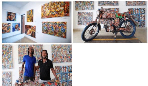 Painters Emmanuel Nkuranga and Innocent Nkurunziza